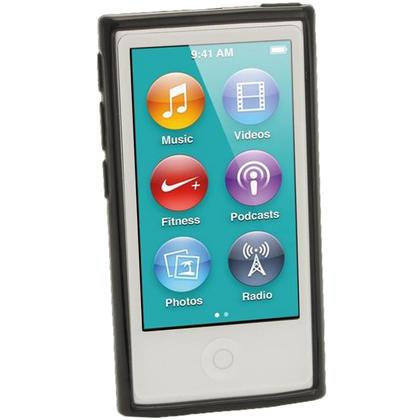 iGadgitz Black Glossy Gel Case for Apple iPod Nano 7th Generation 7G 16GB + Screen Protector Thumbnail 2