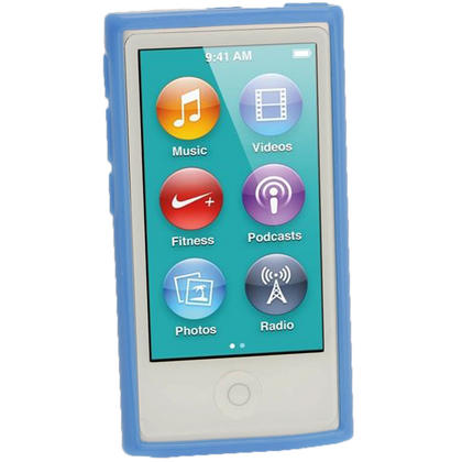 iGadgitz Blue Glossy Gel Case for Apple iPod Nano 7th Generation 7G 16GB + Screen Protector Thumbnail 2