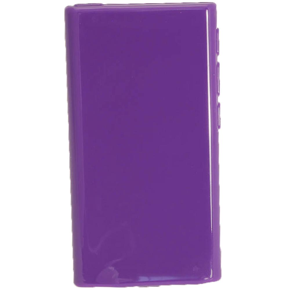 purple glossy tpu gel case for new apple ipod nano 7th