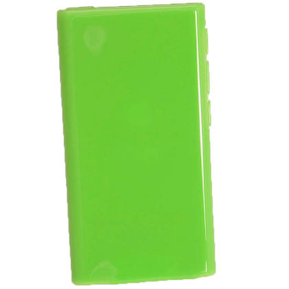 iGadgitz Green Glossy Gel Case for Apple iPod Nano 7th Generation 7G 16GB + Screen Protector Thumbnail 3