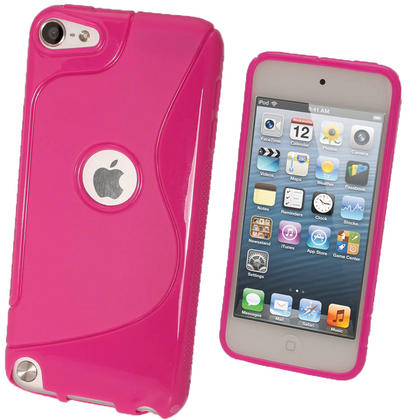iGadgitz S Line Pink Crystal Gel Skin (TPU) Case Cover for Apple iPod Touch 6th & 5th Generation + Screen Protector Thumbnail 1