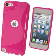 iGadgitz S Line Pink Crystal Gel Skin (TPU) Case Cover for Apple iPod Touch 6th & 5th Generation + Screen Protector