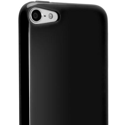 iGadgitz Black Glossy Crystal Gel Skin TPU Case Cover for Apple iPod Touch 6th & 5th Generation + Screen Protector Thumbnail 5