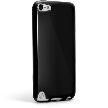iGadgitz Black Glossy Crystal Gel Skin TPU Case Cover for Apple iPod Touch 6th & 5th Generation + Screen Protector Thumbnail 6