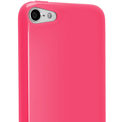iGadgitz Pink Glossy Crystal Gel Skin TPU Case Cover for Apple iPod Touch 6th & 5th Generation + Screen Protector Thumbnail 5