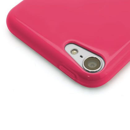 iGadgitz Pink Glossy Crystal Gel Skin TPU Case Cover for Apple iPod Touch 6th & 5th Generation + Screen Protector Thumbnail 2