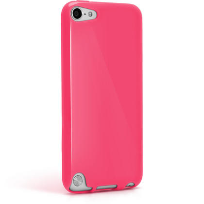 iGadgitz Pink Glossy Crystal Gel Skin TPU Case Cover for Apple iPod Touch 6th & 5th Generation + Screen Protector Thumbnail 6