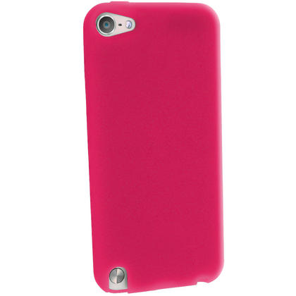 iGadgitz Pink Silicone Skin Case Cover for Apple iPod Touch 6th & 5th Generation + Screen Protector Thumbnail 4