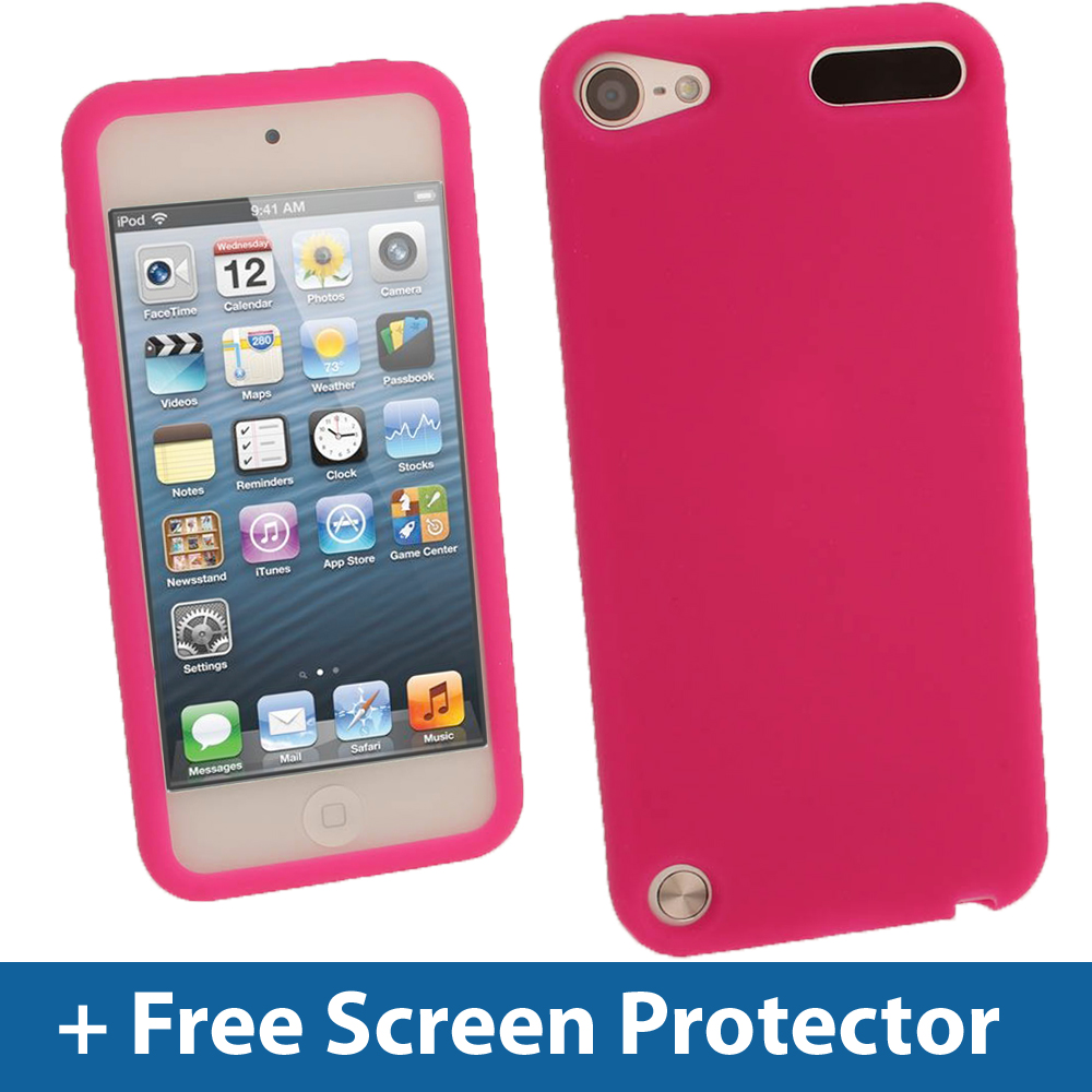 pink silicone skin case for new apple ipod touch itouch. Black Bedroom Furniture Sets. Home Design Ideas