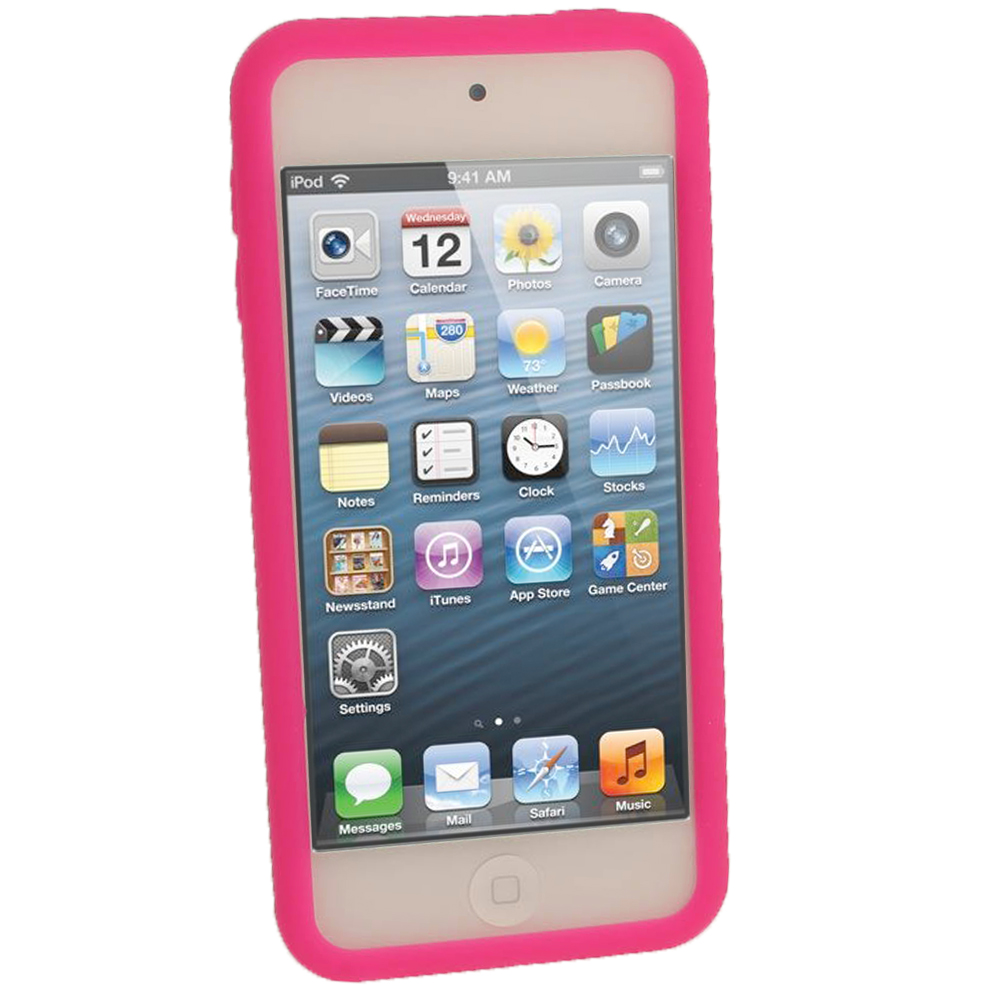 Pink Silicone Skin Case for New Apple iPod Touch iTouch ...  Pink Silicone S...