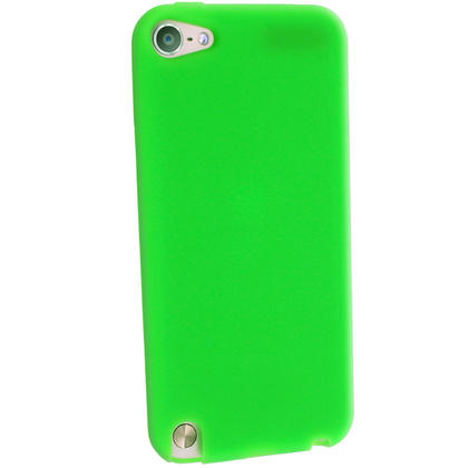 iGadgitz Green Silicone Skin Case Cover for Apple iPod Touch 6th & 5th Generation + Screen Protector Thumbnail 3