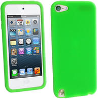 iGadgitz Green Silicone Skin Case Cover for Apple iPod Touch 6th & 5th Generation + Screen Protector
