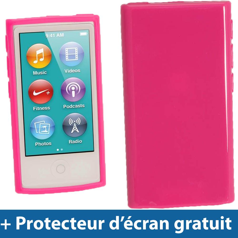 Rose tui housse case tpu pour nouveau apple ipod nano for Housse ipod nano 7