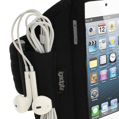 iGadgitz Black Water Resistant Neoprene Sports Gym Jogging Armband for Apple iPod Touch 6th & 5th Generation  Thumbnail 3