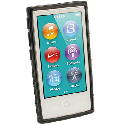iGadgitz Black 'Clip'n'Go' Gel Case for Apple iPod Nano 7th Gen with Integrated Sports Clip + Screen Protector Thumbnail 2