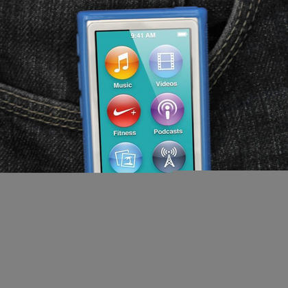 iGadgitz Blue 'Clip'n'Go' Gel Case for Apple iPod Nano 7th Gen with Integrated Sports Clip + Screen Protector Thumbnail 7