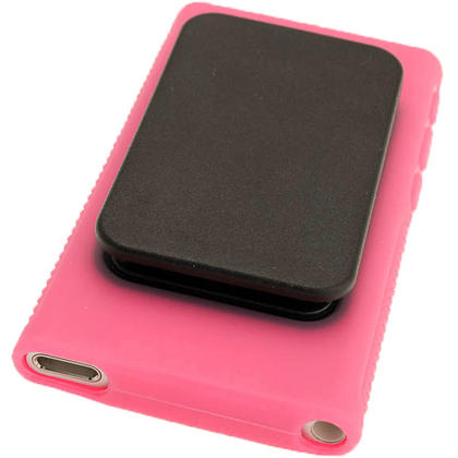 iGadgitz Pink 'Clip'n'Go' Gel Case for Apple iPod Nano 7th Gen with Integrated Sports Clip + Screen Protector Thumbnail 4