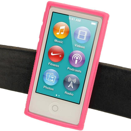 iGadgitz Pink 'Clip'n'Go' Gel Case for Apple iPod Nano 7th Gen with Integrated Sports Clip + Screen Protector Thumbnail 5