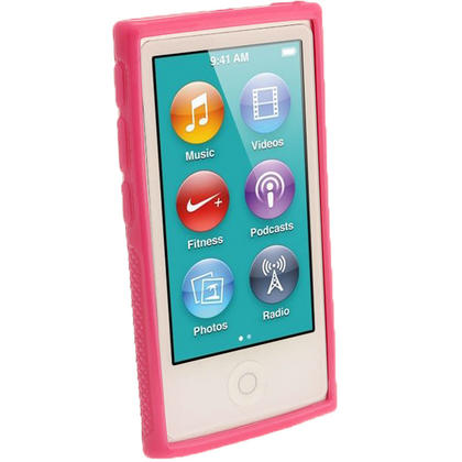 iGadgitz Pink 'Clip'n'Go' Gel Case for Apple iPod Nano 7th Gen with Integrated Sports Clip + Screen Protector Thumbnail 2