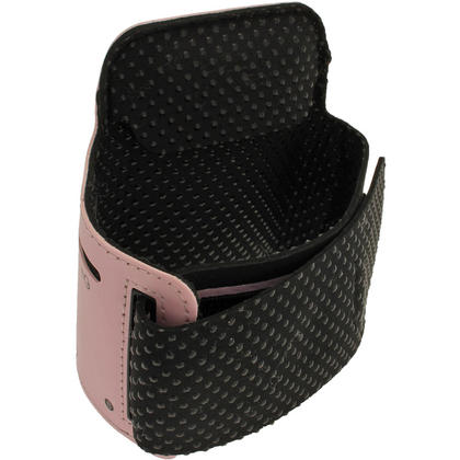 iGadgitz Pink Reflective Neoprene Sports Gym Jogging Armband for Apple iPod Touch 6th & 5th Generation Thumbnail 2