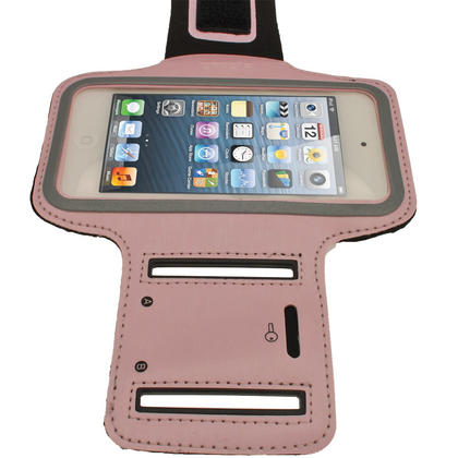 iGadgitz Pink Reflective Neoprene Sports Gym Jogging Armband for Apple iPod Touch 6th & 5th Generation Thumbnail 3