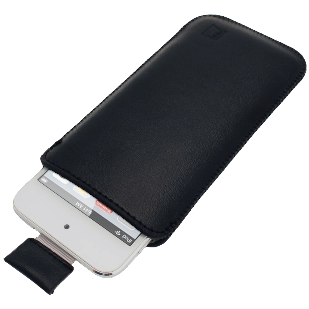 igadgitz Black Leather Pouch Case Cover for Apple iPod Touch 6th & 5th Generation
