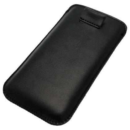 igadgitz Black Leather Pouch Case Cover for Apple iPod Touch 6th & 5th Generation Thumbnail 3