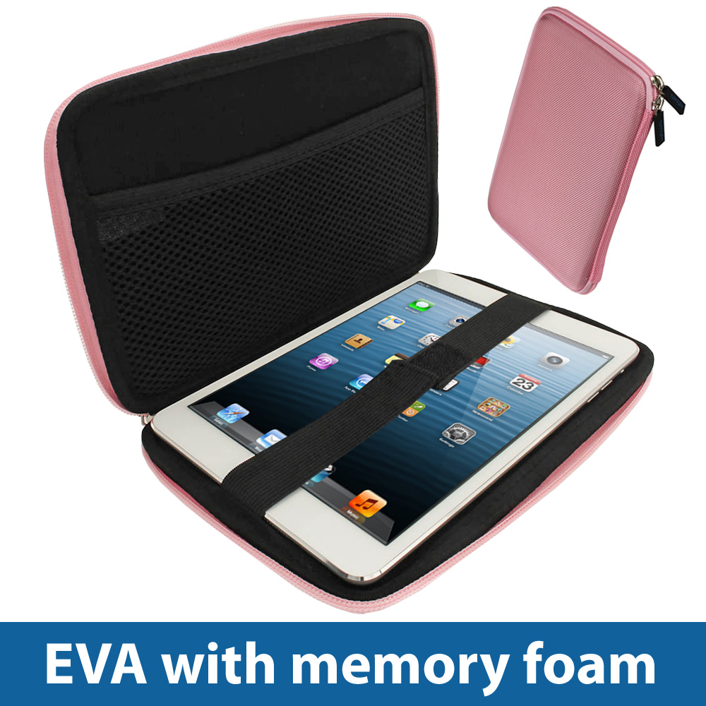 pink eva hard case cover for new apple ipad mini wi fi 16gb 32gb 64gb sleeve ebay. Black Bedroom Furniture Sets. Home Design Ideas