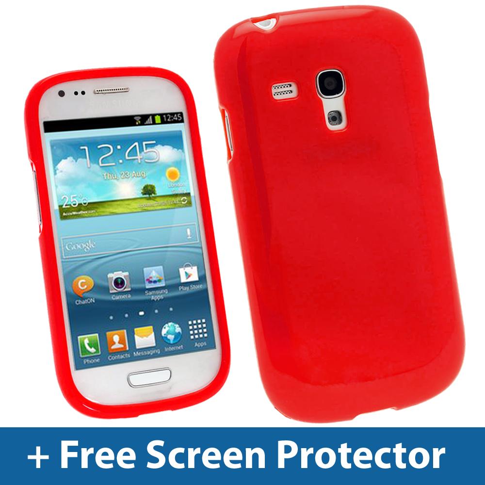 Innov8 - Red Glossy TPU Gel Case for Samsung Galaxy S3 III Mini I8190