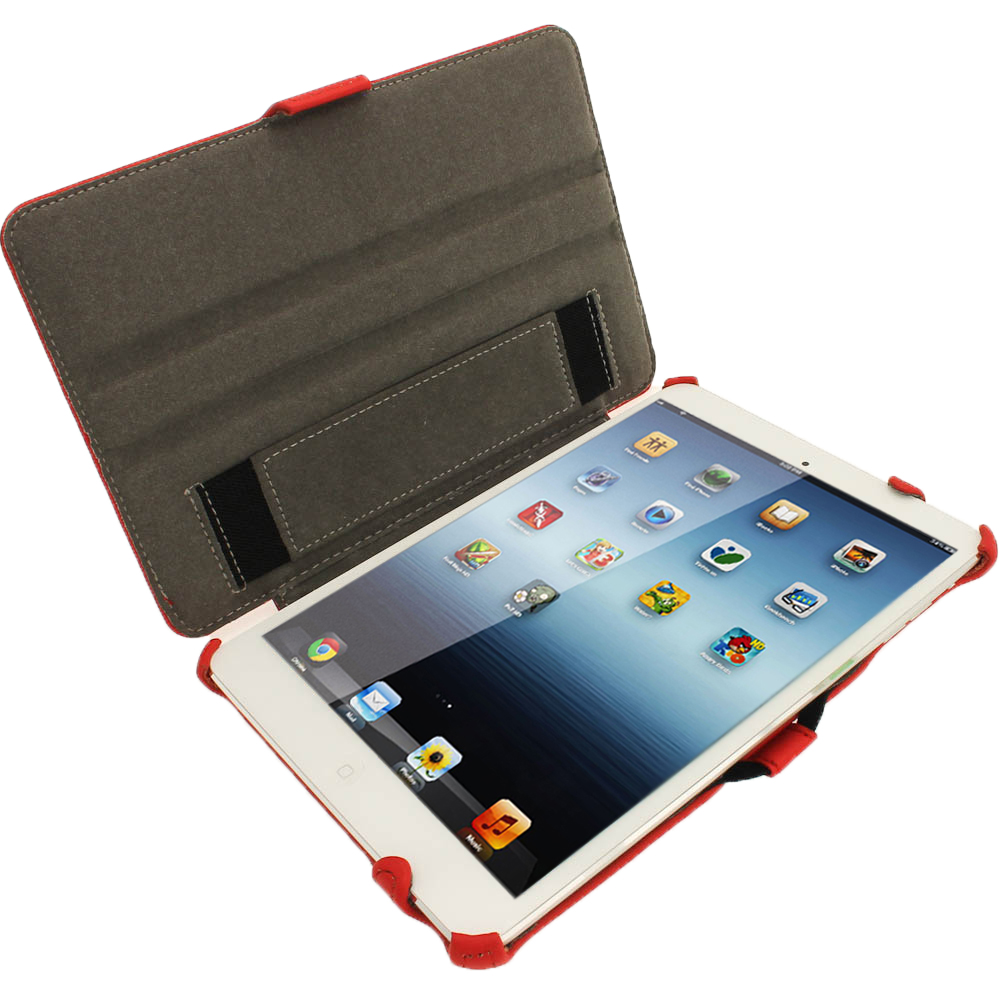 red pu leather case for new apple ipad mini 7 9 wi fi 3g. Black Bedroom Furniture Sets. Home Design Ideas