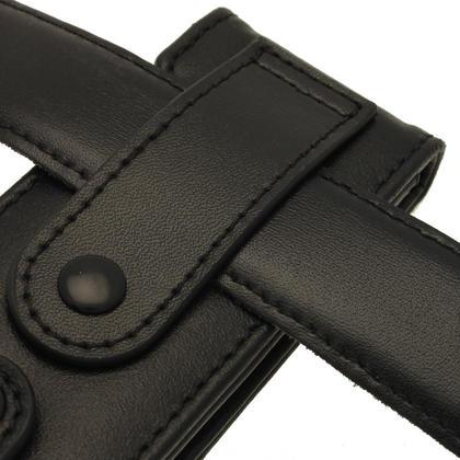 iGadgitz Black Genuine Leather Case for Sony Walkman NWZ-E473 NWZ-E474 NWZ-E574 NWZ-E575 E Series MP3 Player Thumbnail 2
