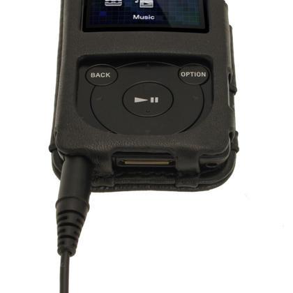 iGadgitz Black Genuine Leather Case for Sony Walkman NWZ-E473 NWZ-E474 NWZ-E574 NWZ-E575 E Series MP3 Player Thumbnail 7
