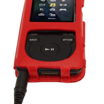 iGadgitz Red Leather Case for Sony Walkman NWZ-E473 NWZ-E474 NWZ-E574 NWZ-E575 E Series MP3 Player Thumbnail 7