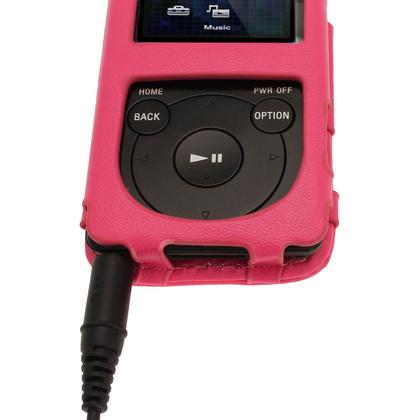 iGadgitz Pink Leather Case for Sony Walkman NWZ-E473 NWZ-E474 NWZ-E574 NWZ-E575 E Series MP3 Player Thumbnail 7