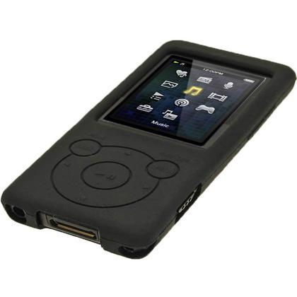 iGadgitz Black Silicone Case for Sony Walkman NWZ-E473 NWZ-E474 NWZ-E574 NWZ-E575 E Series MP3 Player + Screen Protector Thumbnail 4