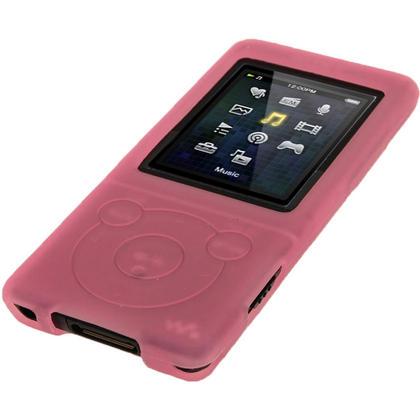 iGadgitz Pink Silicone Case for Sony Walkman NWZ-E473 NWZ-E474 NWZ-E574 NWZ-E575 E Series MP3 Player + Screen Protector Thumbnail 4