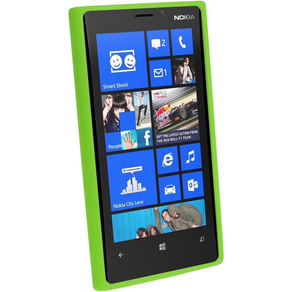 Vert tui housse coque case cover tpu pour nokia lumia 920 for Housse nintendo 2ds