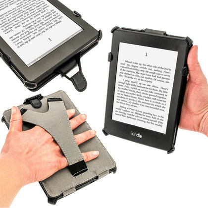 iGadgitz Black PU 'Heat Molded' Leather Case for Amazon Kindle Paperwhite 2015 2014 2013 2012 + Sleep/Wake & Hand Strap Thumbnail 5