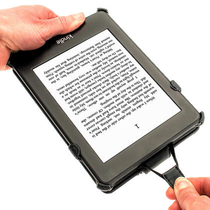 iGadgitz Black PU 'Heat Molded' Leather Case for Amazon Kindle Paperwhite 2015 2014 2013 2012 + Sleep/Wake & Hand Strap Thumbnail 4