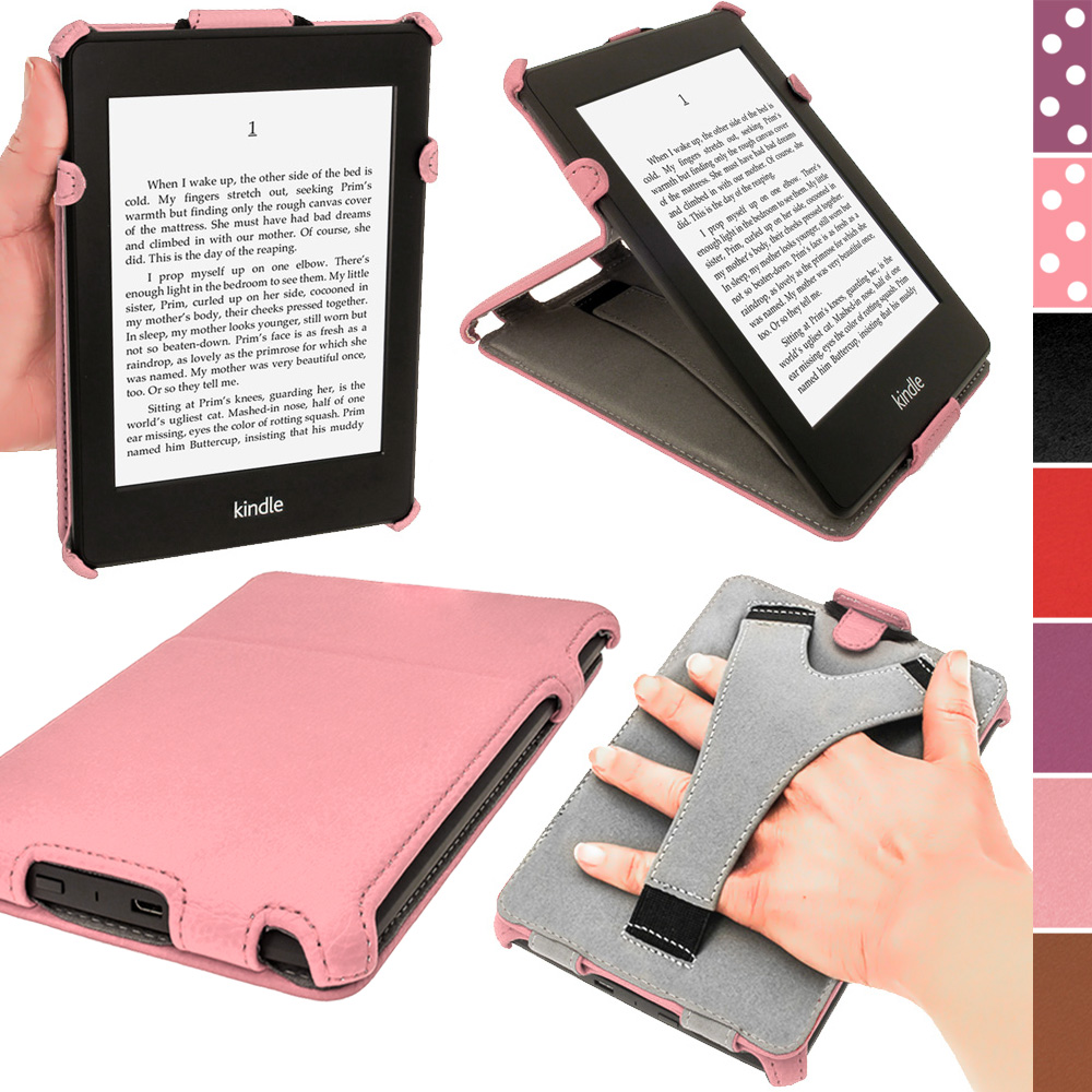 pink pu leather case for amazon kindle paperwhite 3g 6 wi. Black Bedroom Furniture Sets. Home Design Ideas