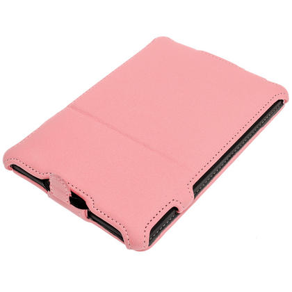 iGadgitz Pink PU 'Heat Molded' Leather Case for Amazon Kindle Paperwhite 2015 2014 2013 2012 + Sleep/Wake & Hand Strap Thumbnail 2