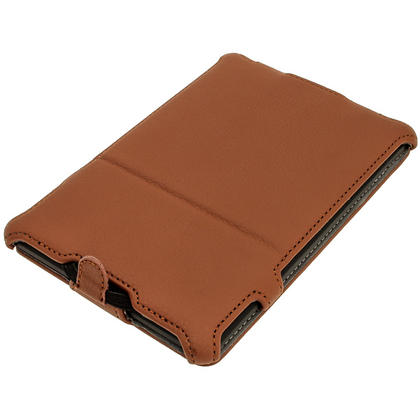 iGadgitz Brown PU 'Heat Molded' Leather Case for Amazon Kindle Paperwhite 2015 2014 2013 2012 + Sleep/Wake & Hand Strap Thumbnail 2