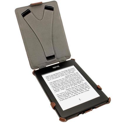 iGadgitz Brown PU 'Heat Molded' Leather Case for Amazon Kindle Paperwhite 2015 2014 2013 2012 + Sleep/Wake & Hand Strap Thumbnail 3