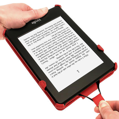 iGadgitz Red PU 'Heat Molded' Leather Case for Amazon Kindle Paperwhite 2015 2014 2013 2012 + Sleep/Wake & Hand Strap Thumbnail 4