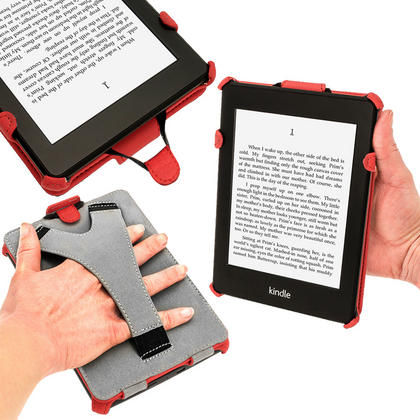 iGadgitz Red PU 'Heat Molded' Leather Case for Amazon Kindle Paperwhite 2015 2014 2013 2012 + Sleep/Wake & Hand Strap Thumbnail 5