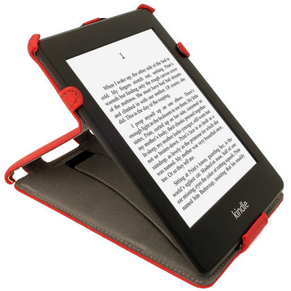 iGadgitz Red PU 'Heat Molded' Leather Case for Amazon Kindle Paperwhite 2015 2014 2013 2012 + Sleep/Wake & Hand Strap Thumbnail 7