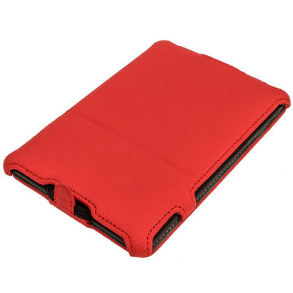 iGadgitz Red PU 'Heat Molded' Leather Case for Amazon Kindle Paperwhite 2015 2014 2013 2012 + Sleep/Wake & Hand Strap Thumbnail 2