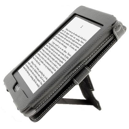 iGadgitz Black PU 'Bi-View' Leather Case for Amazon Kindle Paperwhite 2015 2014 2013 2012 With Sleep/Wake & Hand Strap Thumbnail 3
