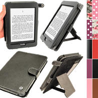 iGadgitz Black PU 'Bi-View' Leather Case for Amazon Kindle Paperwhite 2015 2014 2013 2012 With Sleep/Wake & Hand Strap