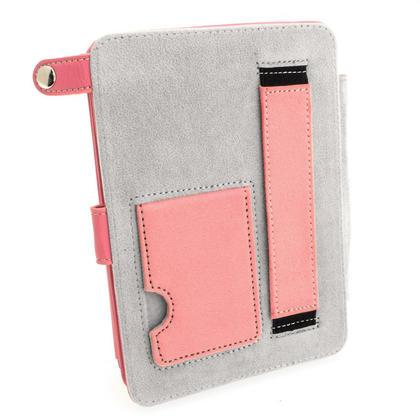 iGadgitz Pink PU 'Bi-View' Leather Case for Amazon Kindle Paperwhite 2015 2014 2013 2012 With Sleep/Wake & Hand Strap Thumbnail 5